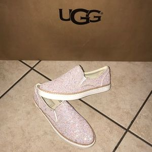 Women's UGG ADLEY CHUNKY GLITTER SLIP ON SHOE #6.5